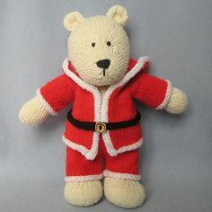Christmas polar bear knitting pattern
