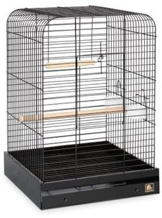 NEW BIRD CAGE PARROT PET FUN SIZE TOP SQUARE ROOF STAND SUPPLY CUPS SWING PERCH #BirdCage