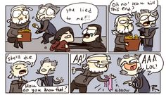 The Witcher 3, doodles 202 by Ayej on DeviantArt   I absolutely love the relationship between Geralt and Regis.