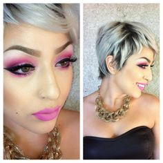 .@missrachellev | #makeup #makeup_loooks #shorthairdontcare #pixiehair #theevanitydiary #theboy... | Webstagram - the best Instagram viewer
