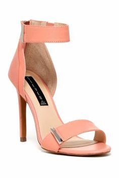 Steven-By-Steve-Madden-Lizete-Ankle-Strap-Sandal-Peach-Womens-Size-8-NEW-IN-BOX