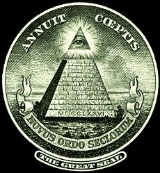the Masonic pyramid with the All Seeing Eye