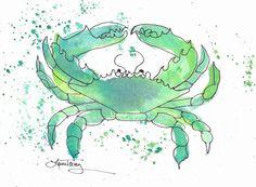 Seafoam Green Crab Print | Joss and Main sale May 12, 2013 #lauratrevey