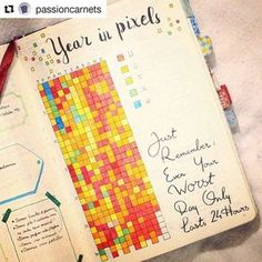 It's like spotting a unicorn! The original Year in Pixels project complete!! A true-blue bujo classic.  @passioncarnets has inspired a thousand versions but now we see the first one fully done! Check out her post and her feed! . . . #Repost @passioncarnets: #YearInPixels, one year later. Thanks to everyone who shared with me their own mood tracker which was a crazy success on Pinterest (more than 178k repins ). This is how my 2016 looks like: a colorful, warm and happy p...
