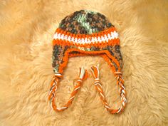 Caleb Crochet Hat baby hat Camouflage with by HollysHooksandLoops. $18.00 USD, via Etsy.