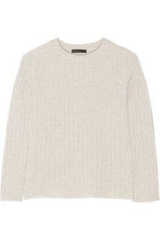 The Row Milo ribbed cashmere sweater   NET-A-PORTER
