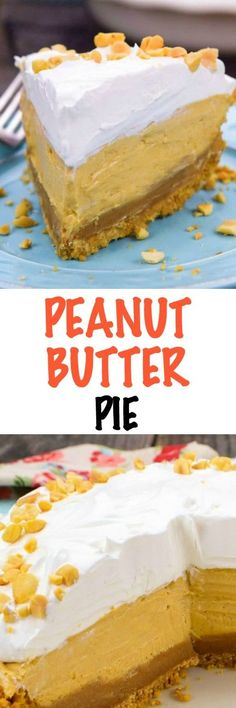 This fabulous Peanut Butter Pie is a perfect cool treat, for summer or any time of year! A delicious homemade peanut butter cookie crust is pairs beautifully with the decadent peanut butter ganache layer and the creamy peanut butter middle.