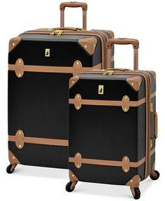 online retailer a4cd3 6536e London Fog Retro Hardside Spinner Luggage   macys.com Maletas, Conjuntos De  Equipaje,