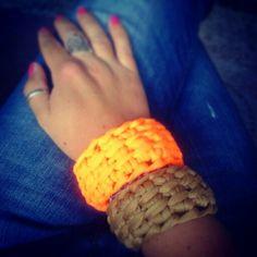 Armbanden tunisch gehaakt. Bracelets, tunisian crochet