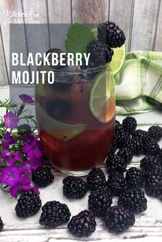 The blackberry mojito: our favorite new mojito recipe! This is going to be a favorite all summer long with it's fresh berries, lime and mint leaves. It just sounds so refreshing!