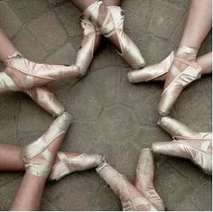 such a cute idea. Try with everyone with their new pointe shoes then their old ones at the end of the year.