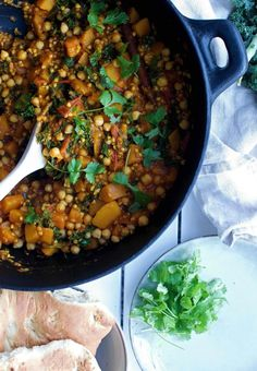Vegan / Vegetarian Pumpkin Buckwheat Stew with Kale and Turmeric Buckwheat Recipe Breakfast, Vegan Buckwheat Recipe, Buckwheat Gluten Free, Buckwheat Salad, Kitchen Recipes, Baby Food Recipes, Cooking Recipes, Healthy Food Choices, Healthy Meal Prep