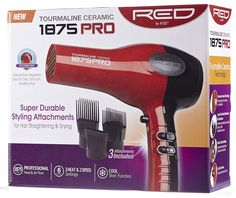 Red by Kiss 1875 Watt Ceramic Tourmaline Dryer with Pik Attachment 3 super durable styling attachments included Cool-shot button locks in style Powerful yet lightweight drying sensation Hair Blow Dryer, Best Hair Dryer, Flat Iron Reviews, Red By Kiss, Fish Tank Lights, Dove Men Care, Hair Care Brands, Business Hairstyles, Boxes For Sale
