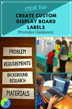 STEM Fair Project Board Title and Label Template: Editable Kindergarten Science Activities, Science Resources, Science Classroom, Fourth Grade Science, High School Science, Science Fair Experiments, Science Lessons, Stem Fair Projects, Stem Classes