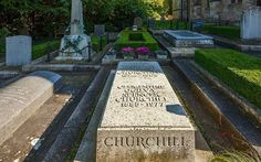 Winston Churchill is buried alongside the small church of Bladon, near Woodstock. My Father's hero. We visited his grave site together.