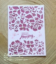 LibbyStampz - Libby Dyson Stampin' Up! Demonstrator Sydney Australia - Stampin' Up! Diy Paper, Paper Crafts, You Are Amazing, Heartfelt Creations, Stampin Up, Craft Supplies, Craft Projects, Card Making, South Pacific
