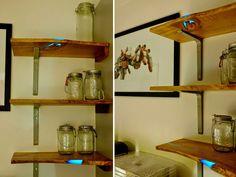 DIY Glowing Inlaid Resin Shelves by Mat Brown resin furniture
