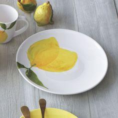 Lemon Dinner Plate | Sur La Table - 4 of each of everything & Sur La Table Lemon 16-Piece Dinnerware Set | Dinnerware Cookware ...