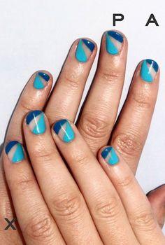 Best Blue Nail Art - #JeansAddict Inspo