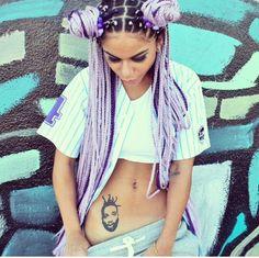 #dope #lilac #braids