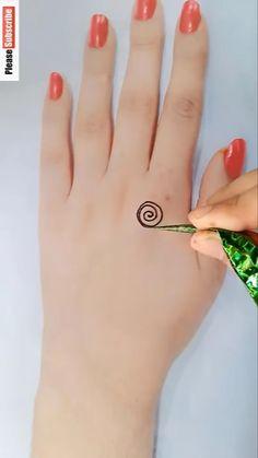 Very Simple Mehndi Designs, Mehndi Designs Front Hand, Mehndi Designs For Kids, Finger Henna Designs, Mehndi Designs Feet, Mehndi Designs Book, Latest Bridal Mehndi Designs, Mehndi Designs For Beginners, Mehndi Designs For Fingers
