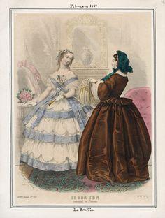 Le Bon Ton February 1857 LAPL