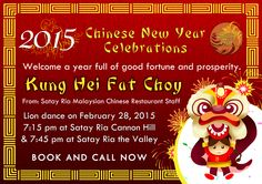 Satay Ria Lion dance on February 28, 2015 7:15 pm at Satay Ria Cannon Hill and 7:45 pm at Satay Ria the Valley  Book and call now!  You may call us on 3390 6226 - Satay Ria Cannon Hill 3252 2881 - Satay Ria The Valley  Or book your reservation online at http://satayria.com.au/contact-us.  Visit us at  Satay Ria Cannon Hill Shop 8 Cannon Central 1145 Wynnum Rd, Cannon Hill, QLD 4170  Satay Ria The Valley 165 Wickham Street, Fortitude Valley, QLD 4006  #chinesenewyear #newyear2015 