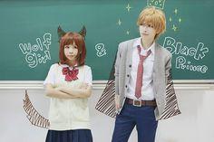 karinsawa as Sata Kyouya and echomimi as Shinohara Erika (Ookami Shoujo to Kuro Ouji)