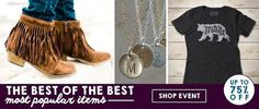 Check out this deal at Groopdealz! Get Up to 75% off our most popular items at Groopdealz! Save on the items you love! Shop now! Sale ends 1/23! Don't miss out! Hand Stamped Initial Necklaces Only $6.50! Mama & Papa Bear Tee Only $13.99! C.C. Knit Beanies Only $9.99! Colored Jeggings – 15 Colors! —$12.99 …