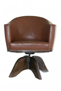 1930's Vintage Leather Desk Chair