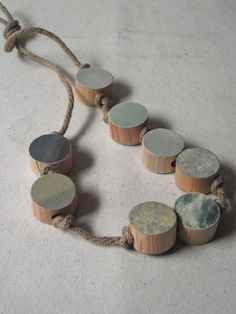 Myriad Necklace - Sky--- now I see this in maple wood(that I have from the cut tree in the yard), and leather AND chain