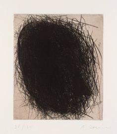 Arnulf Rainer, 'Johann Wolfgang von Goethe' 1982. Drypoint and Photoetching. 29x25cm.