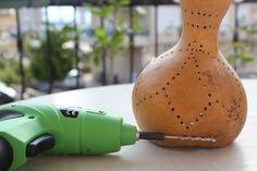 Luminária de Cabaça - DIY - * Decoração e Invenção *