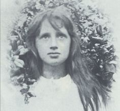 Virginia Woolf as a child.- this looks like Natasha with long, brown hair !