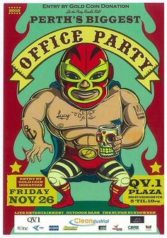 luche libre party animal. I love his tiki cup
