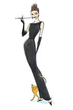Dibujo inspiración Desayuno Con Diamantes.1961