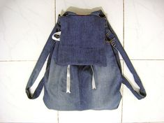 I Wear a Bow - Back to School DIY - Backpack from Jeans