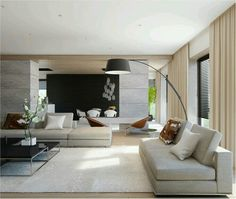 Living · Contemporary Living RoomsContemporary DecorModern ...