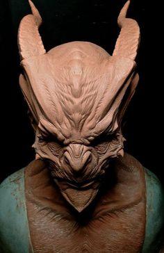 The detail on this sculpt is amazing Zbrush, Alien Creatures, Fantasy Creatures, Alien Concept, Concept Art, Makeup Fx, Traditional Sculptures, Dragons, E Mc2