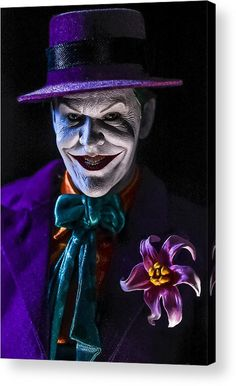 Call Me Joker Acrylic Print by Jeremy Guerin. All acrylic prints are professionally printed, packaged, and shipped within 3 - 4 business days and delivered ready-to-hang on your wall. Choose from multiple sizes and mounting options. Joker Art, Thing 1, Mark Hamill, Acrylic Sheets, Any Images, Toys Photography, Got Print, How To Be Outgoing, Call Me
