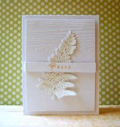 Woodgrain Peace Card by Cristina Kowalczyk for Papertrey Ink (July 2013)