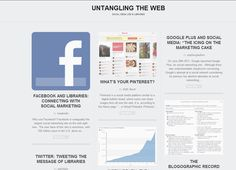 """Untangling the Web: Social Media Use in Libraries"" - A Wordpress blog by library students at Wayne State University, MI. 2012."