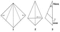 Havrani ze skládačky Origami, Diagram, Collage, Symbols, Peace, Chart, Winter, Art For Kids, Christmas Decorations