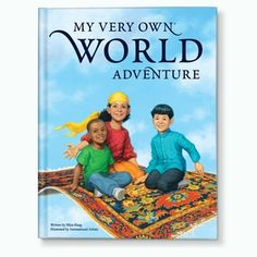 New! My Very Own World Adventure Storybook In this adventurous, educational storybook, your child rides a magic carpet around the world to visit countries and places that spell out your child's first and last name in rhyme.  #BeautifulBabyShower