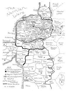 The Chronicles of Narnia Map