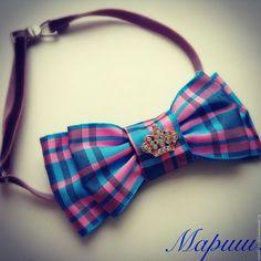 Купить Галстук бабочка - бледно-розовый, бабочка-галстук, бабочка на шею, бабочка ручной работы