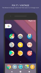 Download PIX IT VINTAGE – Icon Pack android app for Free    Pix it is a game of shapes and colors, a dynamic icon pack where the icon floating, fits, overlaps or even disappear!  All in one vintage style!    http://apk-best.com/pix-vintage-icon-pack/