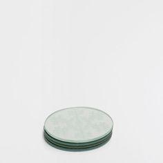 Dessous-de-verre rond effet miroir (lot de 4)
