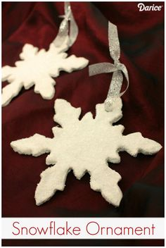 How-to: Clay Ornament DIY Snowflakes