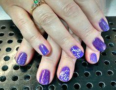 Purple Elephant #alzheimers #dementia awareness nail art by Heather Jenkins